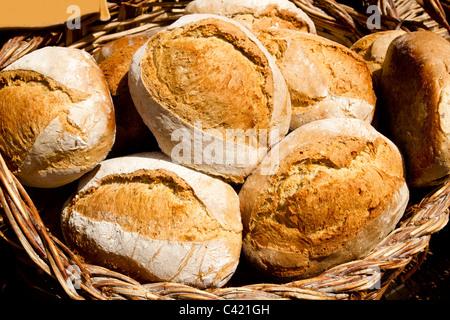 traditionelle Brot aus spanischen Mittelmeerküste Müsli Essen - Stockfoto