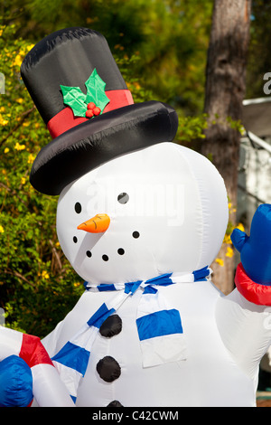 Schneemann aufblasbar Weihnachten Feiertagsdekorationen in Fort Wilderness Resort in Walt Disney World, Kissimmee, - Stockfoto