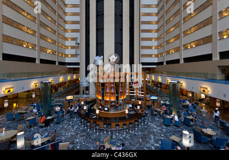 Lobby, New York Marriott Marquis Times Square in Manhattan, New York City - Stockfoto