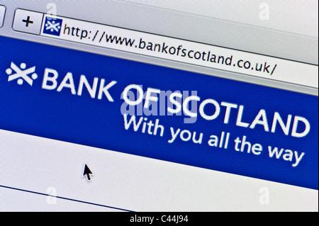 """Nahaufnahme von der """"Bank of Scotland"""" Logo wie auf ihrer Website zu sehen. (Nur zur redaktionellen Verwendung: - Stockfoto"""