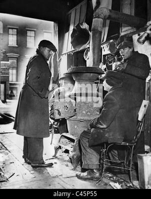 Arbeitslosen während der großen Depression, 1931 - Stockfoto