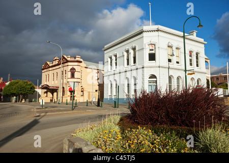 Denkmalgeschützte Gebäude - Hotel in London (1909) und Albany House (1878). Albany, Western Australia, Australien - Stockfoto