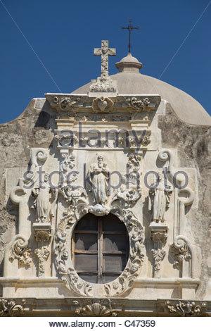 Mission San Jose y San Miguel de Aguayo, San Antonio, Texas - Stockfoto