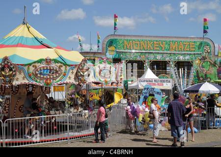 Florida, FL, Süd, Putnam County, Palatka, Blue Crab Festival, Veranstaltung, Karneval auf halbem Weg, Karussell, - Stockfoto