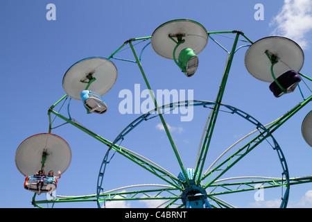 Florida, FL, Süd, Putnam County, Palatka, Blue Crab Festival, Veranstaltung, Karneval reiten, wirbelnde Schaukel, - Stockfoto