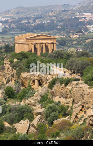 Tempel der Concordia, Valley of the Temples, Agrigento, Sizilien - Stockfoto