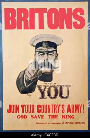 lord kitchener wants you rekrutierung plakat f r die britische armee im ersten weltkrieg es. Black Bedroom Furniture Sets. Home Design Ideas