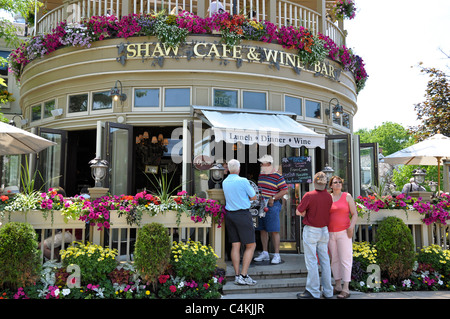 Niagara-on-See, Shaw Cafe and Wine Bar - Stockfoto