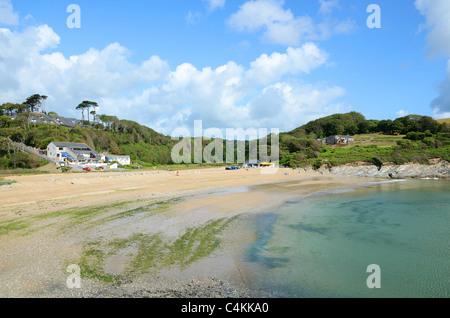 Maenporth Strand in der Nähe von Falmouth in Cornwall, Großbritannien - Stockfoto