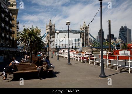 Tower Bridge River Thames Southwark London england - Stockfoto