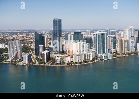 USA, Florida, Skyline von Miami aus der Luft gesehen - Stockfoto