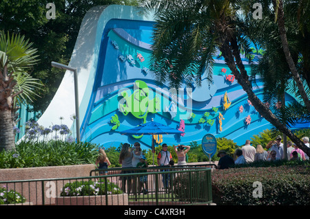Die Meere mit Nemo & Freunde Pavillon Epcot Themenpark Walt Disney World Resort in Orlando Florida - Stockfoto