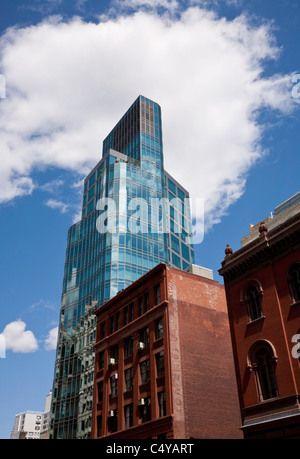 Eigentumswohnung-Turm, 445 Lafayette St. am Astor Place und Cooper Square, New York - Stockfoto