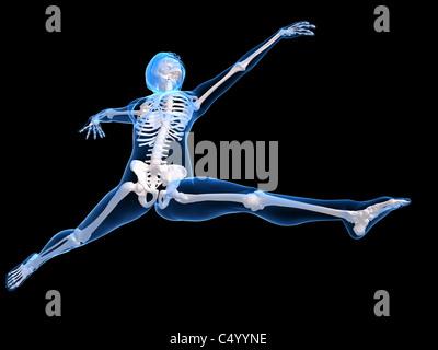 Weibliche tanzendes Skelett - Stockfoto