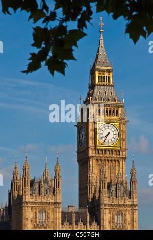 Uhrturm Big Ben, Houses of Parliament - Stockfoto
