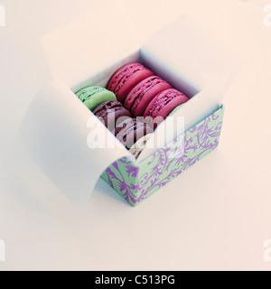 Schachtel macarons - Stockfoto