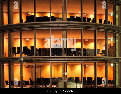Moderne Architektur im Paul Loebe House, Regierungsviertel, Berlin, Deutschland, Europa - Stockfoto