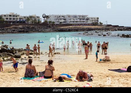 Costa Teguise Beach - Lanzarote - Kanarische Inseln - Stockfoto