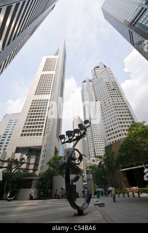Wolkenkratzer der Finanzdistrikt, zentraler Geschäftsbezirk, kreativ, Singapur, Südostasien, Asien - Stockfoto