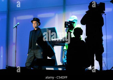 Bestival 2006, Pet Shop Boys, Robin Hill, Isle Of Wight, England, Vereinigtes Königreich, Neil Tennant - Stockfoto