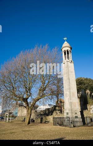 Das Mayflower Memorial, Stadtkai, Southampton, Hampshire, England, Vereinigtes Königreich - Stockfoto