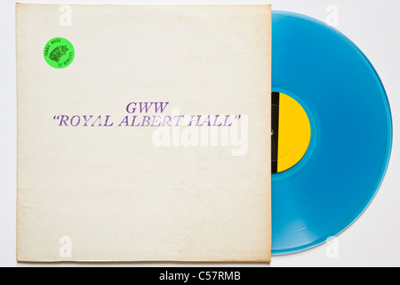 Originalaufnahme Bootleg Konzert von Bob Dylan GWW Royal Albert Hall 1966 erschien 1971 auf blauem vinyl - Stockfoto