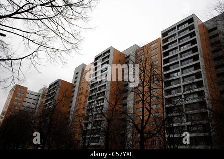 Sozialer Wohnungsbau in Kreuzberg. Berlin, Deutschland.
