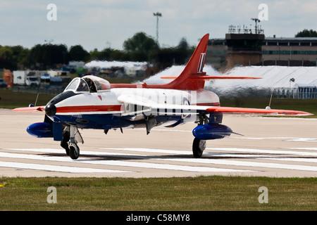 Hawker Hunter FGA9 XE601 G-ETPS gesehen bei RAF Waddington - Stockfoto