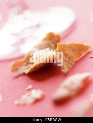 Dennoch: Zerbröckelte croissant - Stockfoto
