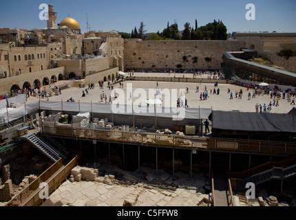 jerusalem tempelberg arch ologische ausgrabungen luftbild stockfoto bild 30782167 alamy. Black Bedroom Furniture Sets. Home Design Ideas