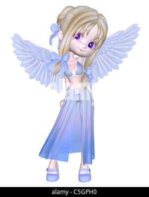 Niedliche kleine blaue Engel Toon - Stockfoto