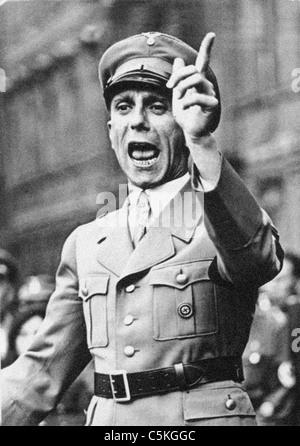 Joseph Goebbels deutscher Kriegs-Minister von Propaganda aus dem Archiv des Pressedienstes Portrait - Stockfoto