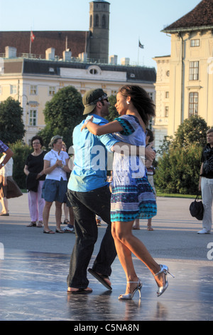 Tango Argentino Milonga Straße tanzen in Wien, Österreich - Stockfoto