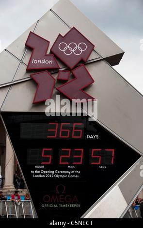 Countdown für die Olympischen Spiele 2012 in London - Stockfoto