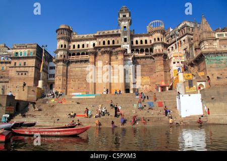 Varanasi (Benares, Benares, Banaras), Hindu heilige Stadt am Ganges (Ganga), Zustand von Uttar Pradesh, Indien - Stockfoto