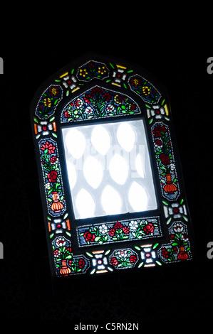 Buntglas-Fenster, Topkapi Palast, Istanbul, Türkei - Stockfoto