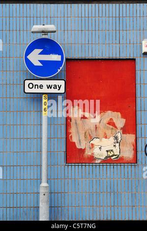 One Way Zeichen - Manchester - Stockfoto