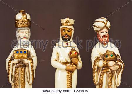 Drei Weise Männer Krippe Statuen - Stockfoto