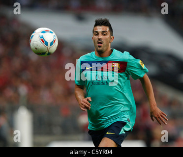 FC Barcelona-Spieler David Villa in Aktion - Stockfoto