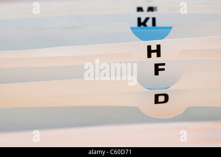 Datei-Index-Registerkarten - Stockfoto