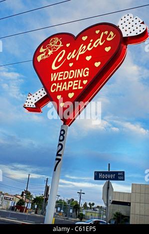 Hochzeit Kapelle Cupids Las Vegas NV Nevada - Stockfoto