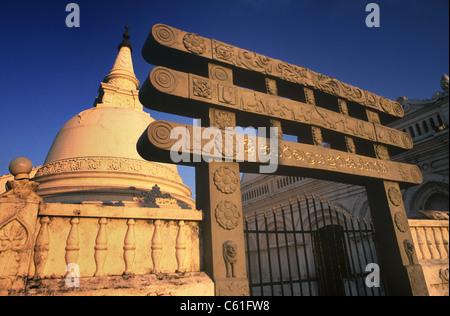 Sri Lanka Galle Fort alte Stadt Sri Sudharmalaya buddhistischen Tempel - Stockfoto
