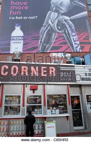 Lower Manhattan New York City NYC NY SoHo Kenmare Street Corner Deli Restaurant Geschäft in ungezwungener Atmosphäre - Stockfoto
