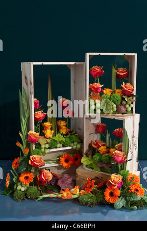 Obstkisten im 28. Southport Flower Show Showground Victoria Park, Southport, Merseyside, UK 2011 - Stockfoto