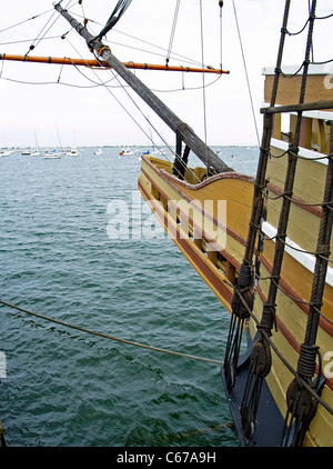 Der Bug der Mayflower II, Plymouth, Massachusetts - Stockfoto