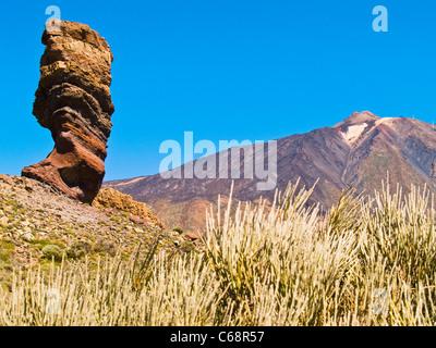 Rock und den Teide Nationalpark Teneriffa, Kanarische Inseln-Spanien-Europa - Stockfoto