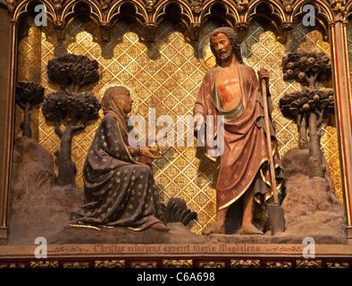 Christus und Mary Magdalen - Befreiung von der Kathedrale Notre-Dame in Paris - Stockfoto