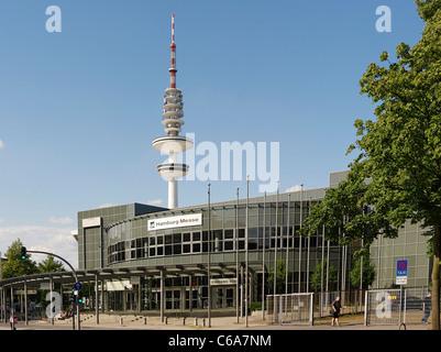 Neue Messe Ausstellungshallen, moderne Architektur, Hansestadt Stadt Hamburg, Deutschland, Europa - Stockfoto
