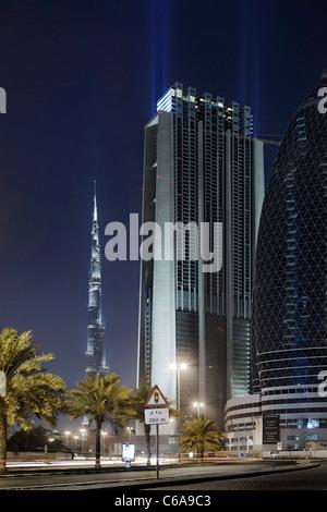 DER INDEX, Financial District, Downtown Dubai, Dubai, Vereinigte Arabische Emirate, Naher Osten - Stockfoto