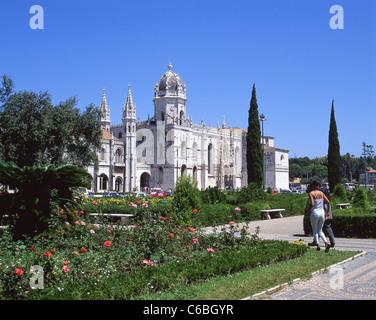 Jerónimos Kloster, Belém, Lissabon, Lisboa Region, Distrikt Lissabon, Portugal - Stockfoto